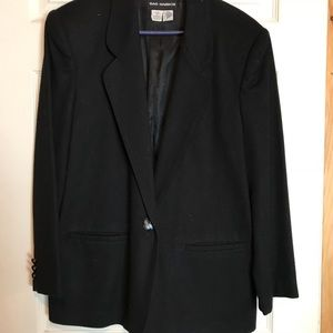 Sag Harbor Black Blazer Size 14